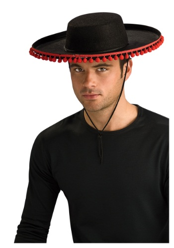 Adult Durashape Spanish Hat w/ Pompoms