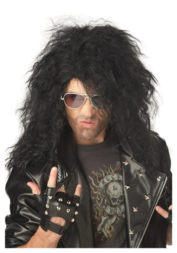 Click Here to buy Black Heavy Metal Wig from HalloweenCostumes, CDN Funds & Shipping