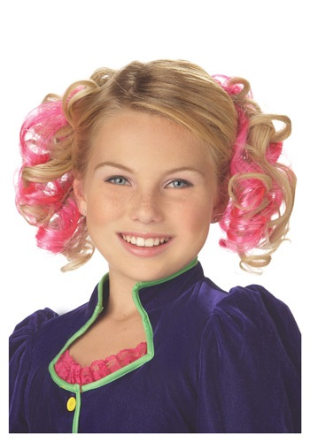 Pink Curly Hair Clips