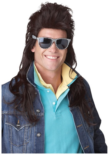 Click Here to buy 80s Brown Rock Mullet Wig from HalloweenCostumes, CDN Funds & Shipping