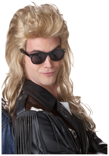 Click Here to buy 80s Blonde Rock Mullet Wig from HalloweenCostumes, CDN Funds & Shipping