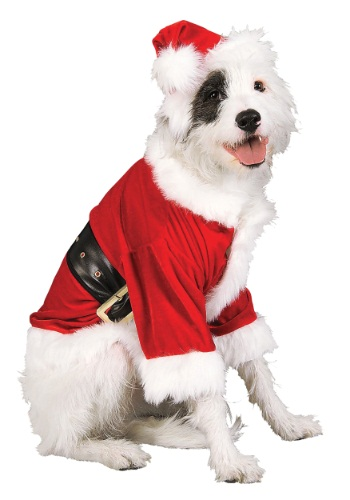 Click Here to buy Santa Pet Costume from HalloweenCostumes, CDN Funds & Shipping