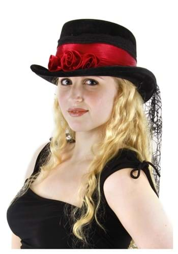 Click Here to buy Gothic Rose Top Hat from HalloweenCostumes, CDN Funds & Shipping