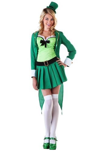 Click Here to buy Womens Lucky Leprechaun Costume from HalloweenCostumes, CDN Funds & Shipping