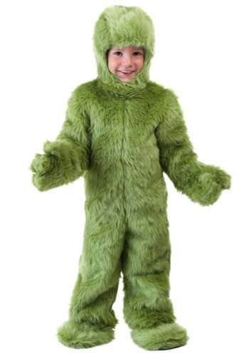 Toddler Green Furry Jumpsuit Costume