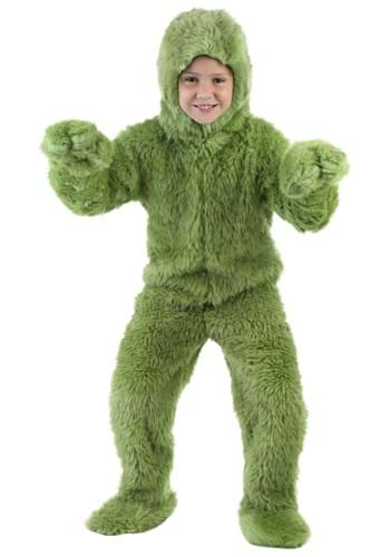 Click Here to buy Kids Green Furry Jumpsuit Costume from HalloweenCostumes, CDN Funds & Shipping
