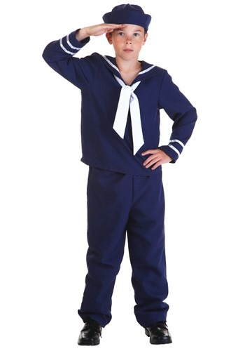 Click Here to buy Kids Blue Sailor Costume from HalloweenCostumes, CDN Funds & Shipping