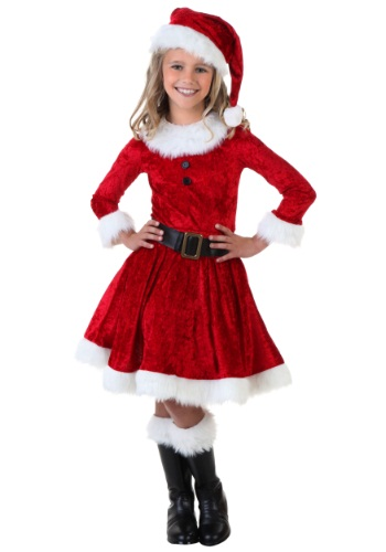 Click Here to buy Girl Mrs. Claus Costume from HalloweenCostumes, CDN Funds & Shipping