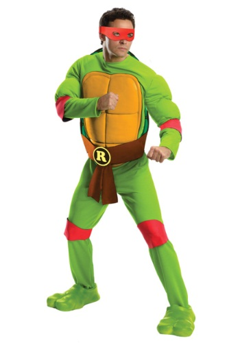Click Here to buy Deluxe Adult Raphael Costume from HalloweenCostumes, CDN Funds & Shipping
