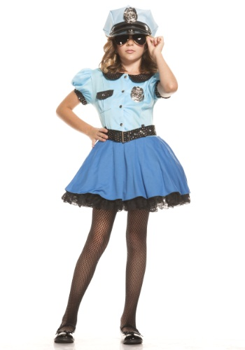Girls Police Uniform Costume