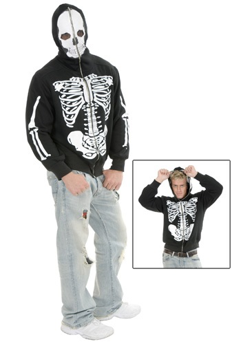 Click Here to buy Skeleton Hooded Sweatshirt from HalloweenCostumes, CDN Funds & Shipping