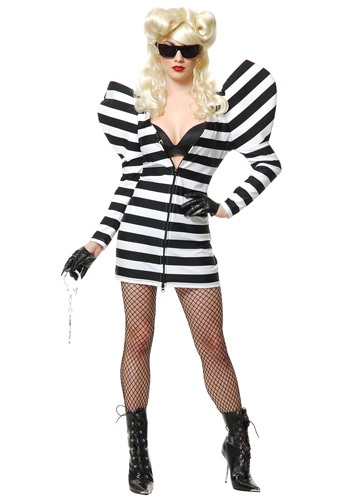 Lady G Prison Dress Costume | Pop Culture Halloween Costume