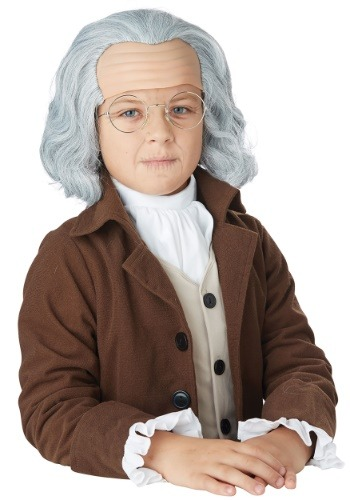Click Here to buy Benjamin Franklin Boys Wig from HalloweenCostumes, CDN Funds & Shipping