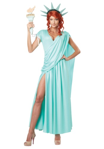 Click Here to buy Lady Liberty Plus Size Costume from HalloweenCostumes, CDN Funds & Shipping