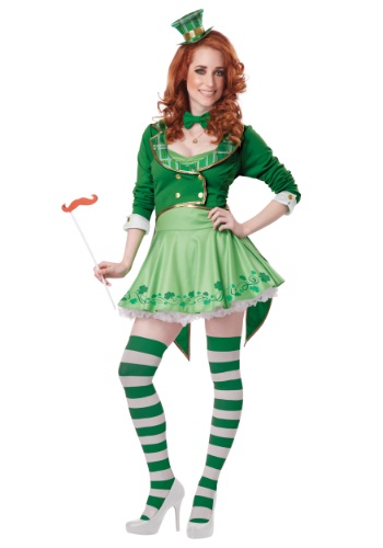 Click Here to buy Lucky Charm Womens Leprechaun Costume from HalloweenCostumes, CDN Funds & Shipping