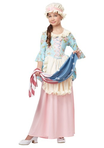 Click Here to buy Girls Colonial Lady Costume from HalloweenCostumes, CDN Funds & Shipping