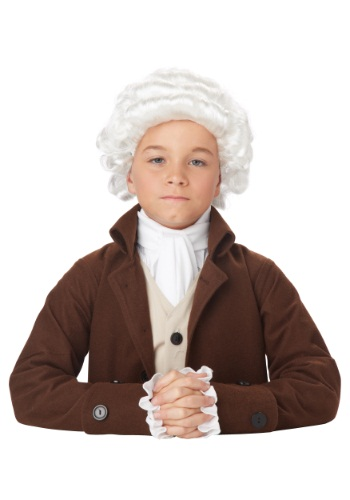 Colonial Man Boys Wig