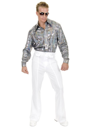 Click Here to buy Plus Size Glitter Disco Shirt from HalloweenCostumes, CDN Funds & Shipping