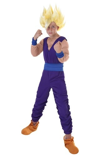 Click Here to buy Kids Gohan Costume from HalloweenCostumes, CDN Funds & Shipping
