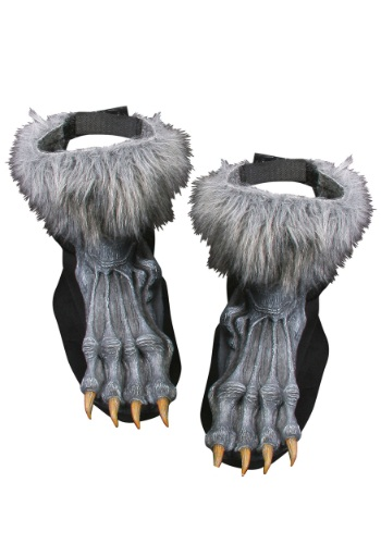 Click Here to buy Silver Werewolf Shoe Covers Costume from HalloweenCostumes, CDN Funds