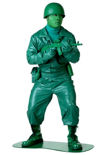 Click Here to buy Plus Size Green Army Man Costume from HalloweenCostumes, CDN Funds & Shipping