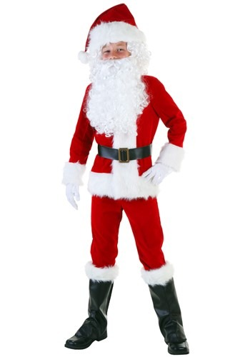 Click Here to buy Kids Deluxe Santa Costume from HalloweenCostumes, CDN Funds & Shipping