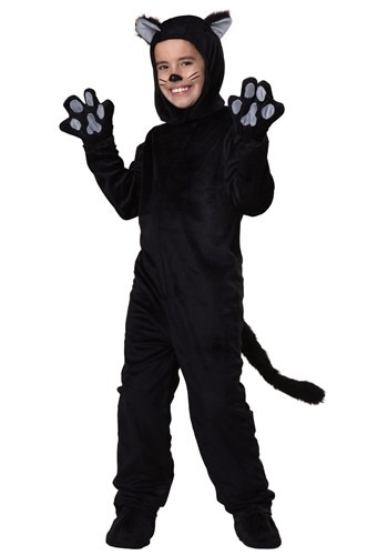 Black Cat Kids Costume | Warm Halloween Costume