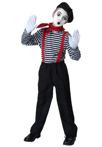 Click Here to buy Kids Mime Costume from HalloweenCostumes, CDN Funds & Shipping