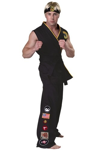 Click Here to buy Authentic Karate Kid Cobra Kai Costume | 80s Movies Costume from HalloweenCostumes, CDN Funds & Shipping