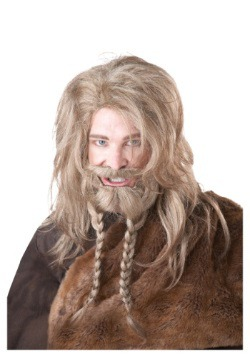 Blonde Viking Wig, Beard and Mustache