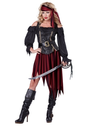 Click Here to buy Adult Queen of the High Seas Costume from HalloweenCostumes, CDN Funds & Shipping