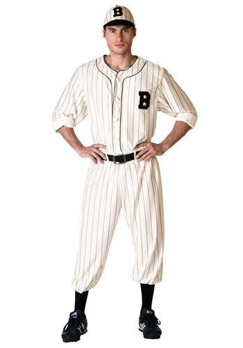 Click Here to buy Plus Size Vintage Baseball Player Costume from HalloweenCostumes, CDN Funds & Shipping