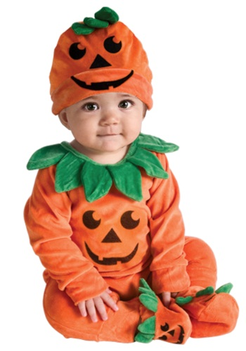 Click Here to buy Baby Lil Pumpkin Onesie Costume from HalloweenCostumes, CDN Funds & Shipping