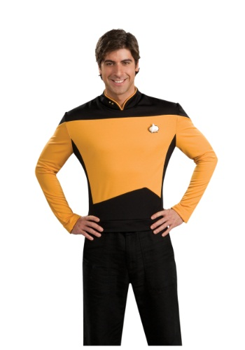 Click Here to buy Star Trek: TNG Adult Deluxe Operations Uniform from HalloweenCostumes, CDN Funds & Shipping
