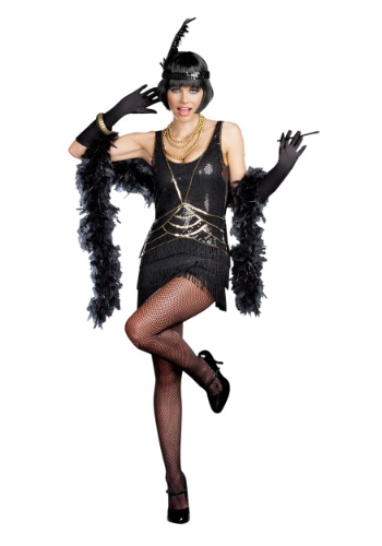 Click Here to buy Womens Aint Misbehavin Flapper Costume from HalloweenCostumes, CDN Funds & Shipping