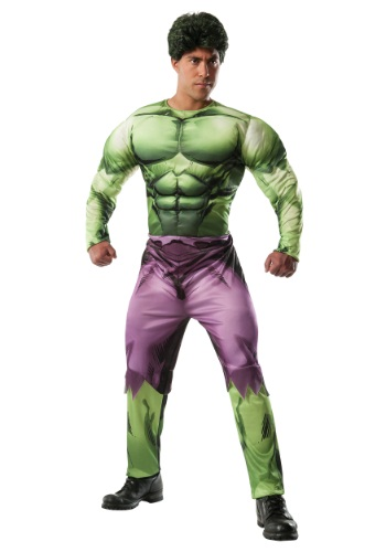Click Here to buy Deluxe Adult Hulk Costume from HalloweenCostumes, CDN Funds & Shipping