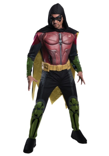 Mens Robin Arkham Origins Costume