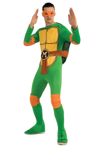 Click Here to buy Adult Classic TMNT Michelangelo Costume from HalloweenCostumes, CDN Funds & Shipping
