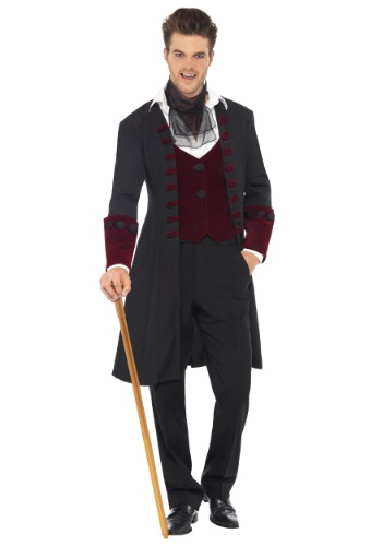 Click Here to buy Mens Gothic Vampire Costume from HalloweenCostumes, CDN Funds & Shipping