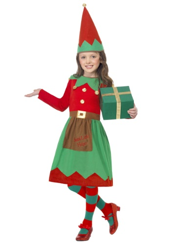 Click Here to buy Girls Santas Little Helper Costume from HalloweenCostumes, CDN Funds & Shipping