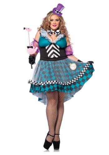 Click Here to buy Plus Size Manic Mad Hatter Costume from HalloweenCostumes, CDN Funds & Shipping