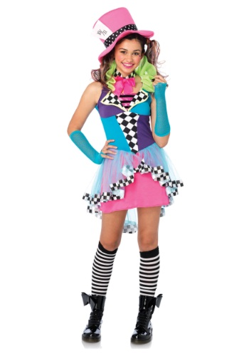 Click Here to buy Tween Mayhem Hatter Costume from HalloweenCostumes, CDN Funds & Shipping
