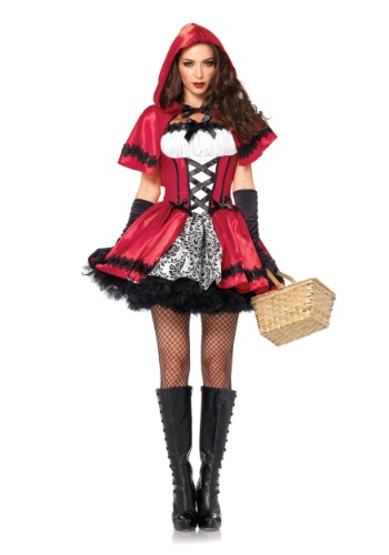 Gothic Red Riding Hood Adult Size Costume