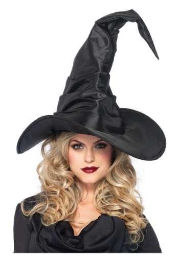 Click Here to buy Large Ruched Witch Hat from HalloweenCostumes, CDN Funds & Shipping