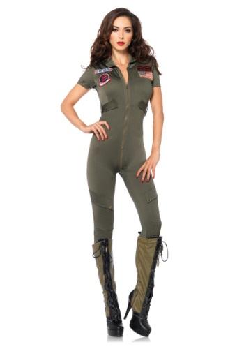 Click Here to buy Top Gun Womens Jumpsuit Costume from HalloweenCostumes, CDN Funds & Shipping