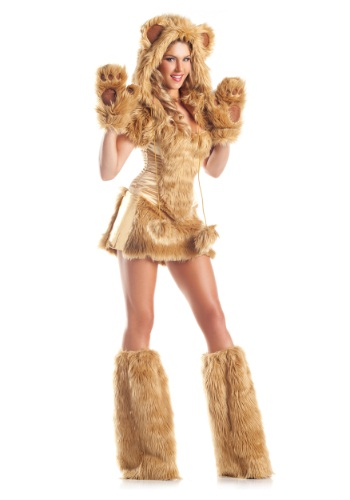 Click Here to buy Womens Deluxe Golden Bear Costume from HalloweenCostumes, CDN Funds & Shipping