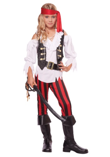 Click Here to buy Girls Posh Pirate Costume from HalloweenCostumes, CDN Funds & Shipping