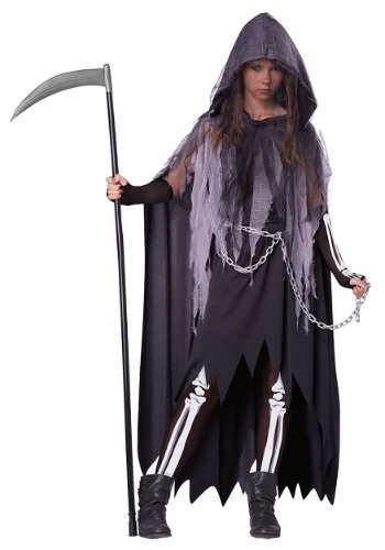 Tween Miss Reaper Costume | Gothic Cosplay