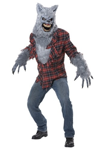 Click Here to buy Adult Gray Lycan Werewolf Costume from HalloweenCostumes, CDN Funds & Shipping
