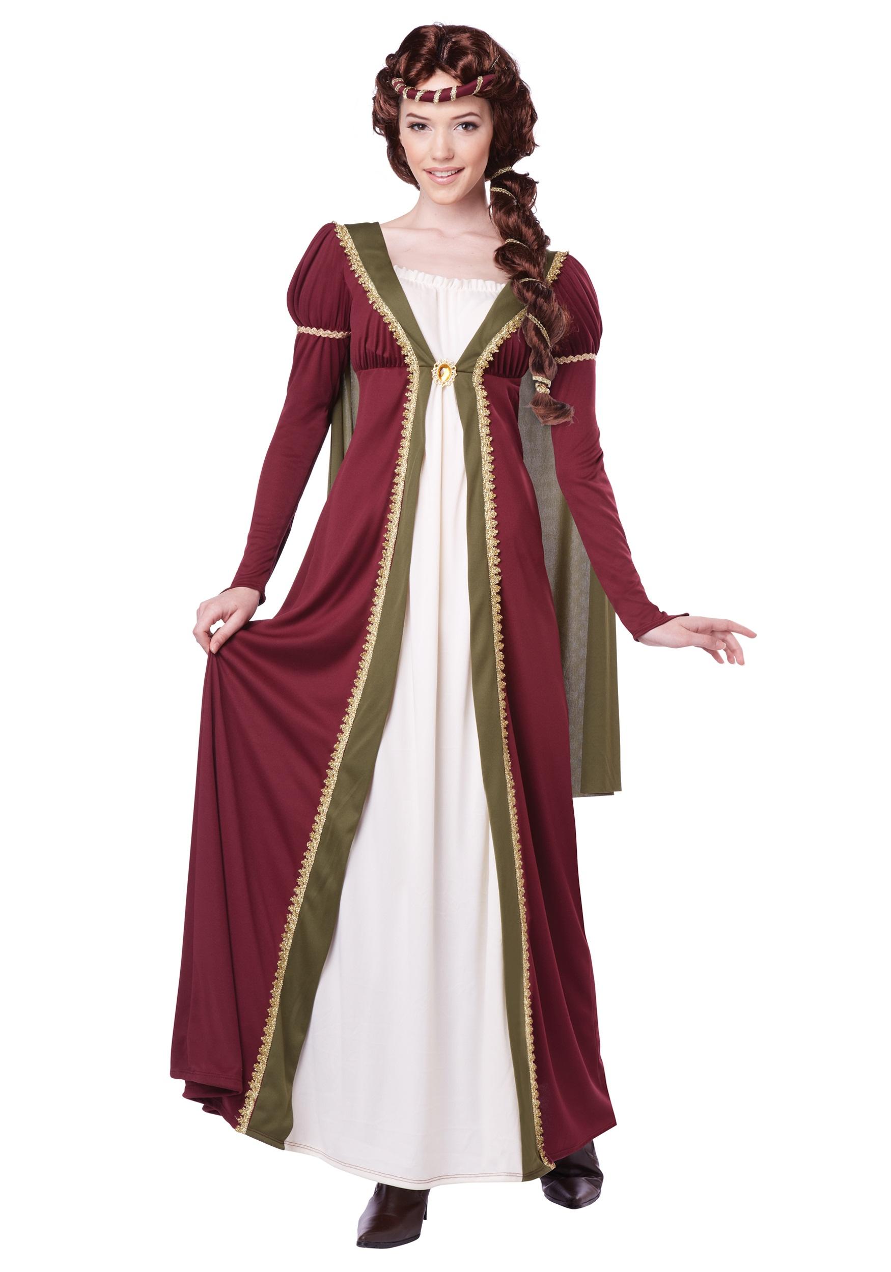 Renaissance Maiden Costume Adult Medieval Lady Halloween Fancy Dress
